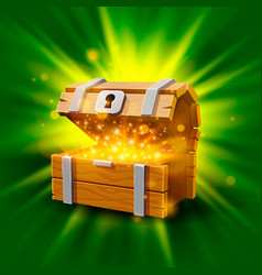 open chest with gold vector image