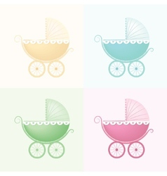 Pastel Baby Carriage vector image