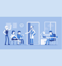 patients waiting for doctor appointment vector image