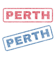 Perth textile stamps vector