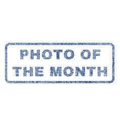 Photo of the month textile stamp vector