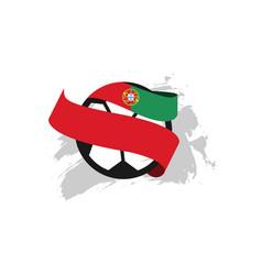 Portugal football club template design vector