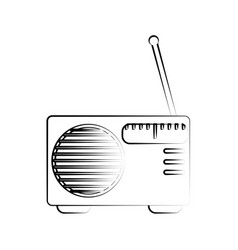 radio with antenna icon image vector image