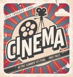 Retro cinema poster vector image