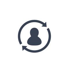 returning customer icon on white vector image