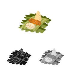 Rice and dish logo vector