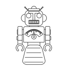 Robot toy draw vector