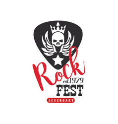 rock fest legendary logo est 1979 emblem for vector image