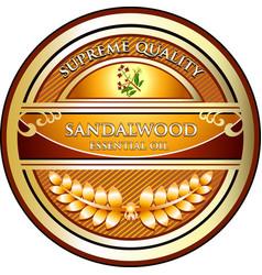 Sandalwood essential oil vector