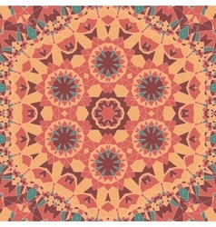 Seamless oriental square pattern vector image