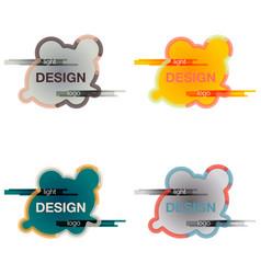 set abstract logo design template creative wavy vector image