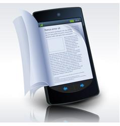 Smartphone e-book vector