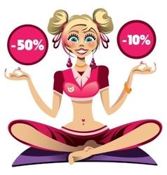 Sport girl doing yoga vector