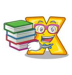 Student with book multiply sign icon isolated on vector