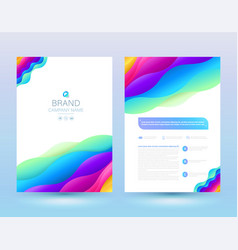 Template annual report vector