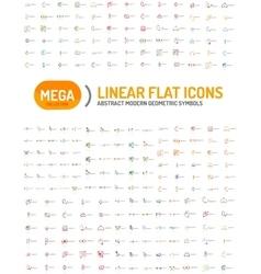 Thin line abstract logo mega collection vector image