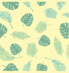 tropical seamless pattern with hibiscus flowers vector image