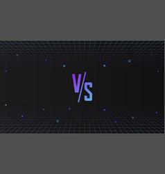 Versus template design in 80s style futuristic vector