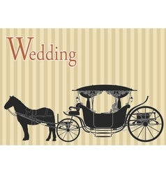 Vintage horse carriage vector