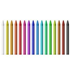 wax colored pencils vector image