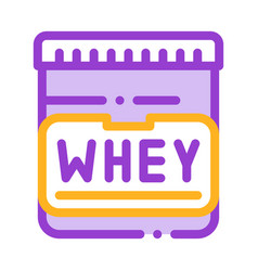 whey protein container sport thin line icon vector image