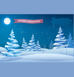 winter holidays night template vector image
