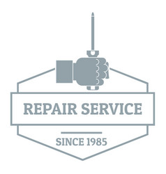 working service logo vintage style vector image