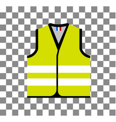 Yellow vest as a symbol of protests in france vector