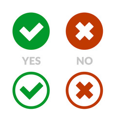 yes sign and no icon set vector image