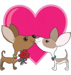 chihuahua love vector image vector image