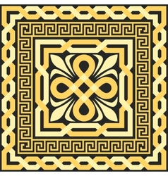 gold pattern of interlacing lines vector image vector image