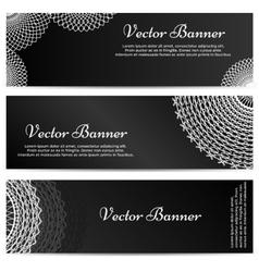 Lacework Ornamental Banners Horizontal Set vector image vector image