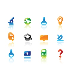 Perfect icons for science vector image vector image