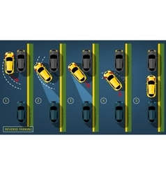 Reverse Parking 02 A-02 vector image vector image