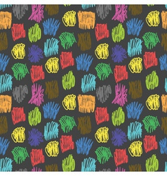 seamless pattern with coloured scrawl vector image
