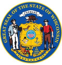 Wisconsin seal vector image