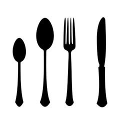 fork spoon knife vector image