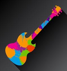 Guitar Splat vector image vector image
