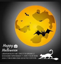 Halloween moon on grey background vector