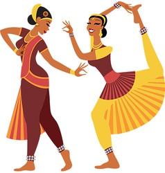 Indian dancers vector