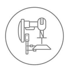 Industrial automated robot line icon vector image vector image