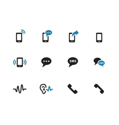 Phone duotone icons on white background vector image vector image