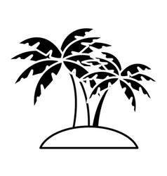 beach palm tree vector image vector image