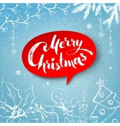 Christmas traditional festive objects vector image vector image