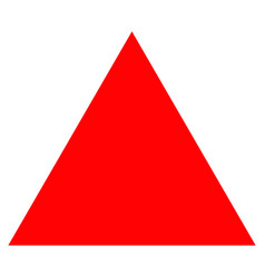 Filled triangle flat icon vector