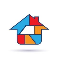 House Interior logo vector image vector image