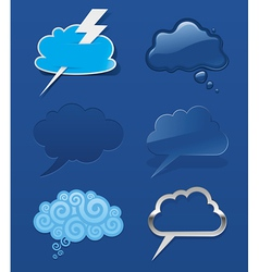 Set of different speech cloud vector image