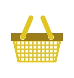 silhouette color with shopping basket vector image vector image