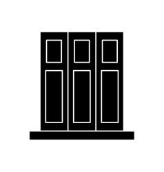silhouette set book folder office elements design vector image
