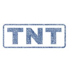 tnt textile stamp vector image